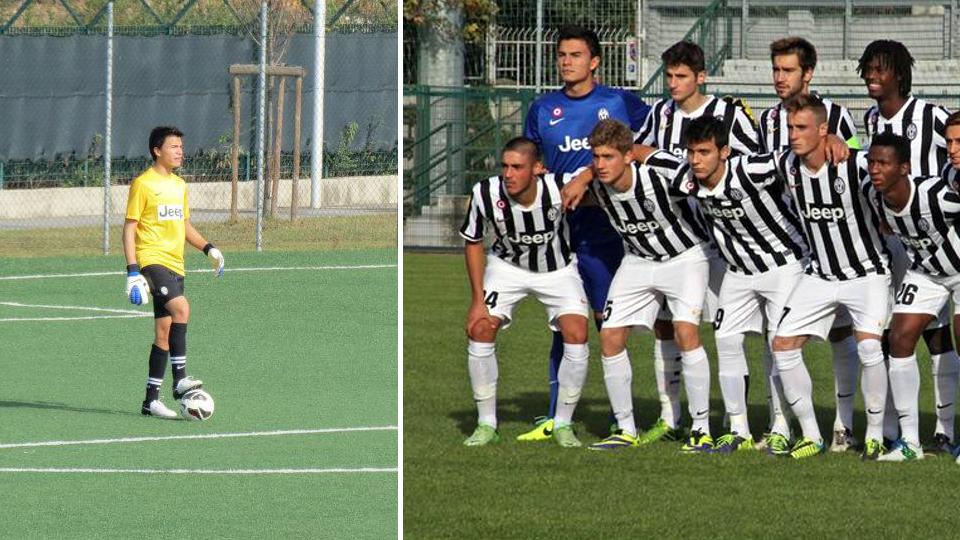 Emilio Audero Mulyadi saat beraksi bersama tim Juventus junior.