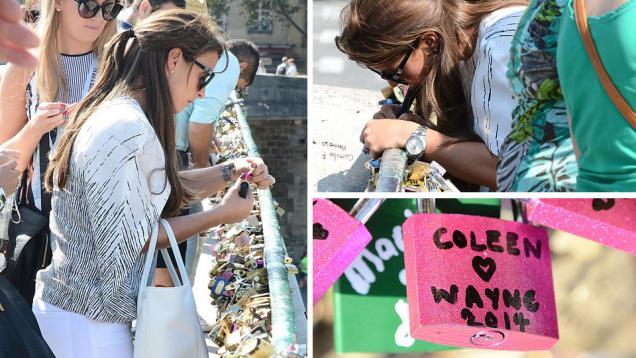 Coleen Gembok Cinta Rooney di Paris
