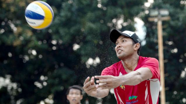 Tim Voli Pantai Indonesia 1 Juara Pool