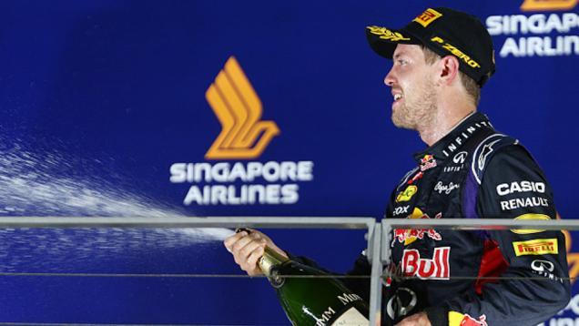 Vettel Puas Finis Posisi Dua