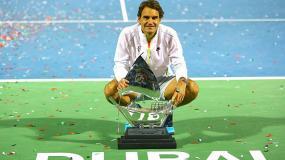 Bekuk Djokovic, Federer Rengkuh Gelar Dubai Terbuka ke-7
